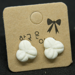 Handmade clay earrings - Kueh Bangkit