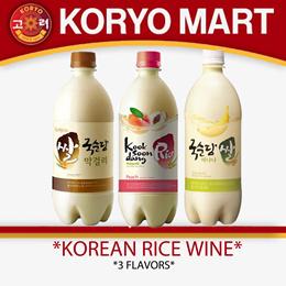 Kooksoondang Korean rice wine 750ml / 4 Flavors