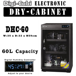 60L Digi Cabi Electronic Dry Cabinet | DHC-60 | 5 Years Warranty | Camera Dry Box | FOR DSLR CAMERA