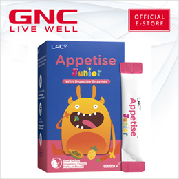 NEW! LAC Appetise Junior With Digestive Enzymes Strawberry Flavour [Kids/Digestion/GNC Exclusive]