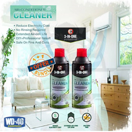 [1+1 BUNDLE] WD-40 3-IN-ONE Professional Air Conditioner Cleaner / 11OZ / 331ML / EFFECTIVE
