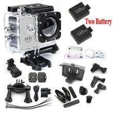 gopro hero 3 style Full HD DVR SJ4000 video Sport go pro camera extreme Sport Helmet Action Camera 2 battery