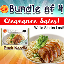 [CP Food] Clearance Sales!! Four Seasons Grilled Duck with Egg Noodles 290g. (Frozen)