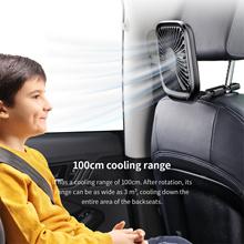 Baseus Mini 360 Rotating Dual Head Portable Car Seat  Fan Strong Wind Air Cooler