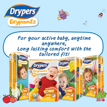 [Drypers Official](Free 40s Wet Wipes][Free Shipping] Drypers Drypantz Carton Sales