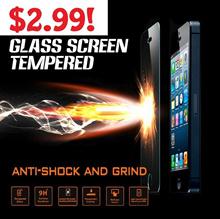 Tempered Glass Screen Protector for iPhone 4/4S/5/5S/5C/6/6plus Samsung Galaxy S4 S3 S5 Note 2/3 Redmi Xiaomi Note/ MI3/ MI4/ Redmi 9H 2.5D