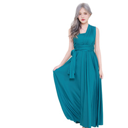 Meow Meow Shop★ Maxi Convertible dress 8802 Teal / floor length