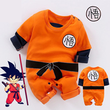 Cute Baby Dragon Ball Goku Costume Baby Boy Romper Jumpsuit Bodysuit Outfits Clothes