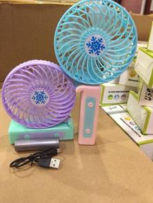Kipas angin tangan genggam mini fan 2 warna lipat hand portable
