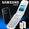Samsung Caramel GT-E1272 Dual SIM - Hitam / Putih   Garansi Resmi 1 Tahun