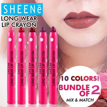 GSS SALES [1+1] Bundle deal!! SHEENe Long Wear Lip Crayon - 10 colors to choose. Mix and Match!!!