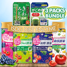 1+1+1★3 packs bundle★ISDG Diet Supplement 爽快酵素 232 Premium 120 capsules/★女人我最大recommend