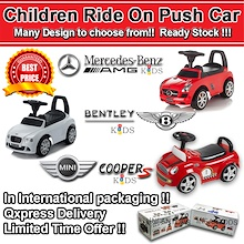 [INFANTODS] Children Ride On Car. Toy Cars. Kids Toy. Mercedes Benz .Birthday Gift. Lots of Designs.