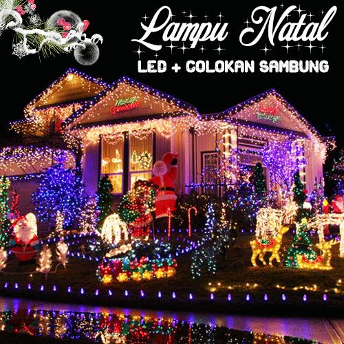 LAMPU NATAL LED LAMPU DEKORASI LENGKAP DENGAN COLOKAN SAMBUNGAN Deals for only Rp36.900 instead of Rp36.900