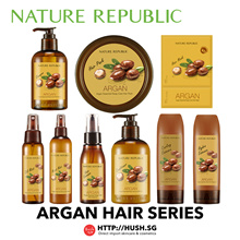 Nature Republic Argan Essential Hair Series - Shampoo Conditioner Essence Hair Mist Hair Pack Hair Mask