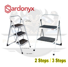 Sardo stool step foldable ladder. Fitted with anti-slip pad on each steps. Light and compact. 2 Step