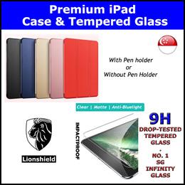★LionShield iPad Case/Tempered Glass★ iPad 10.2 (Gen 8/7)/Pro 11/12.9/Air 3/9.7/Mini 5/4/3/2
