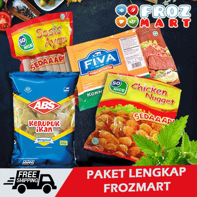 PAKET LENGKAP FROZMART Deals for only Rp87.000 instead of Rp87.000