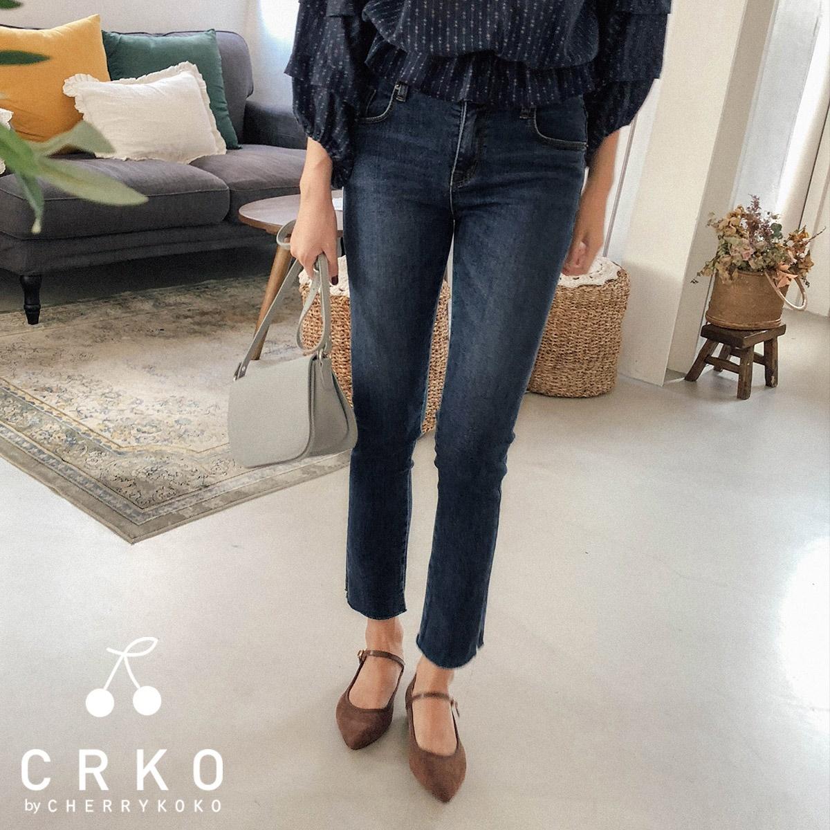 [CHERRYKOKO官方旗艦店] 丹寧長褲 / secreto jeans