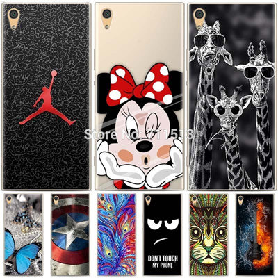 separation shoes 242dc c593c Sony Xperia xa1 case cartoon painted soft tpu case Silicon cover Sony  xperia xa1 cover 5.0 sony