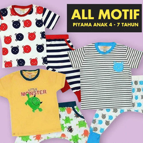 ALL MOTIF Piyama anak 4 Deals for only Rp112.000 instead of Rp112.000