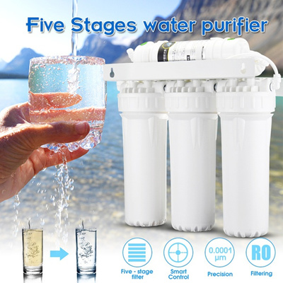 5-Stage Water Filter System Reverse Osmosis RO Filtration Home Faucet Valve  Drinking Clean Purifier