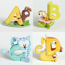 online 26PCS/set 26 Letters Aminal Design 3D DIY Early Learning ABC Baby Toys 19cm * 14cm Education