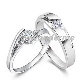 GENUINE 925 Sterling Silver Rings 1.25 CT SWISS DIAMOND ENGAGEMENT RING  WEDDING BAND SET USA 14K