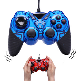 Wired Vibration Gamepad PC USB Controller Joystick Android Game Handle Double Shock for Computer Lap