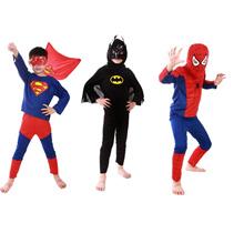 store Halloween Baby Clothing Sets Boys Spiderman/Batman/Superman/Zorro Costumes Children Kids Cospl
