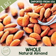 Whole Raw Natural Almond [1kg] The Nuts Warehouse