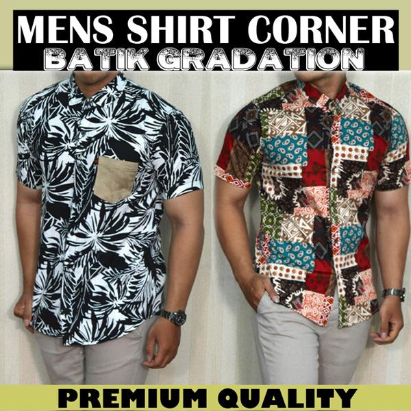 New Mens shirt - Model Kemeja Batik - baju batik pria - kemeja lengan pendek - lengan panjang - High Quality