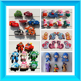 SHOES CHARMS/SESAME STREET/MINECRAFT/MY LITTLE PONY/MINIONS/PEPPA PIG/POCOYO/CARS/MICKEY AND FRIENDS/ROBOCAR POLI/SUPERHEROES SHOE CHARMS FOR CLOG SHOES/JIBBITZ CHARMS
