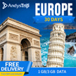 3UK【Europe Sim Card· 30 Days】60 countries Free incoming Call + can activate in SG