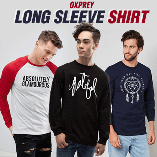 [ OXPREY59 ] - LONG SLEEVE SHIRTS COLLECTION Deals for only Rp91.000 instead of Rp107.059