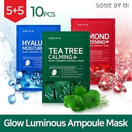 ★TODAY ONLY!!★■ SOMEBYMI ■ GLOW LUMINOUS AMPOULE MASK 10PCS [TEA TREE / HYALURON / DIAMOND_3types