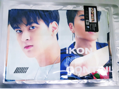 (KPOP) Icon GOOGS cheer towel slogan towel (IKON slogan towel concert  100x20cm) / K-pop Idol ster CD