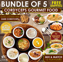 Bundle of 5 ★ Ready-to-Eat Cordyceps Gourmet Food [Mix n Match fm13 flavours] ★ FREE Shipping