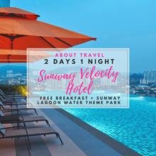 Kuala Lumpur : 2D1N Sunway Velocity Hotel (FREE 2 Adults Sunway Lagoon Water Theme Park + Breakfast)