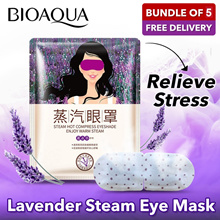BUNDLE OF 5 Disposable Steam Eye Patch Healing Warm Eye Mask Relieve Fatigue Massage Moisturizing