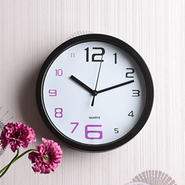 Modern Round Wall Clock Stylish Arabic Numerals for Office and Classroom