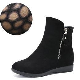 2018 new Women s shoes winter Flats Hidden Heels women Suede thickened Ankle Boots