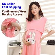 42bacbd5a32fe nursing wear/maternity wear/confinement pajamas pyjamas wear/Pregnacy  Pregnant breastfeeding