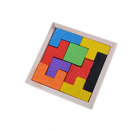 Wooden Tangram Jigsaw Tetris Puzzle Toy For Kids 9Pieces Educational Game
