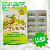 6 Boxes x Asam Ulin Herbal for Relieve Gout Rheumatic Cholesterol Blood Clots Joints and Back Pain