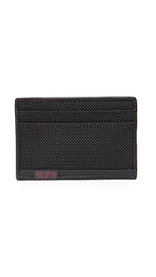 TUMI Men s Alpha Slim Card Holder, Black, One Size