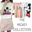 SALES!  Mickey Disney Girls T-shirts Dress Cartoon Short Sleeve Tee Women Casual Loose Blouse/Plus Size 50 Style Optional Cute Lovely Stylish