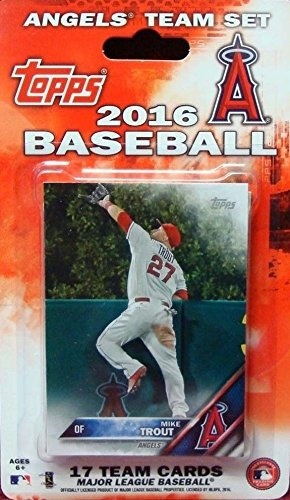 Anaheim Angels 2016 Topps Factory Sealed Special Edition 17 Card Team Set With Mike Trout And Albert