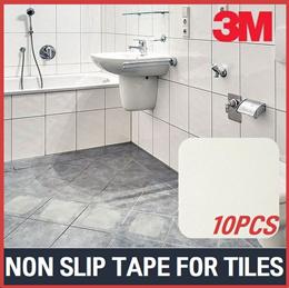 [3M]Bathroom Non-Slip Sticker 10pcs/Tile Anti-Slip Pads/Safety Stickers/Kids/Parents/Korea/Toilet/