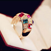 Austrian diamond ring luxury jewelry Symphony Crystal fashion casual noble classic ring